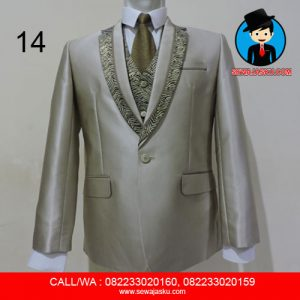 14. Jas + Rompi + Dasi + Celana